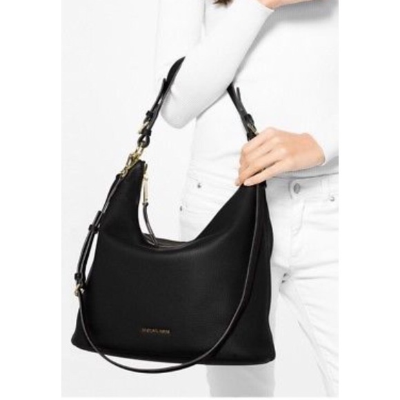 Michael Kors Lupita Large Hobo Pebble Leather Bag.  M 5a7c199750687c115dabde1d 596f0c9962a99